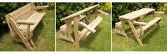 bench folds into picnic table plans picnic table bench combo woodworking projects plans