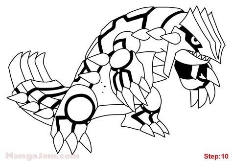 coloring pages pokemon groudon how to draw groudon from pokemon mangajam com