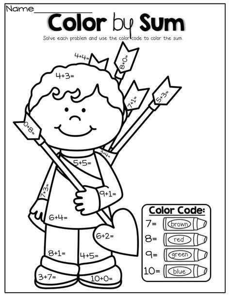 color by sum 18 best images of math color by sum worksheets free math