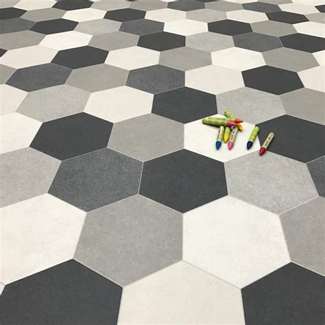 hexagon pattern vinyl cosystep goldie 586 cushion vinyl flooring factory