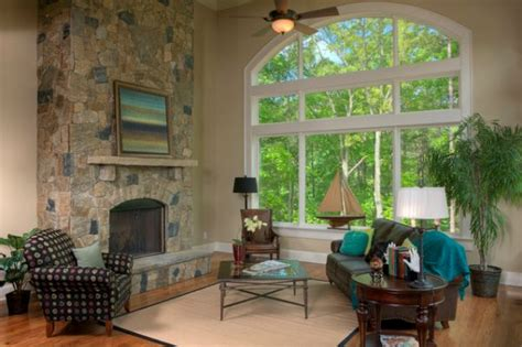 Houses With Big Windows Decor How To Decorate A Living Room With Large Windows