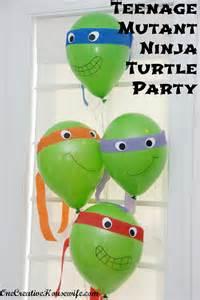 Ninja Turtle Birthday Decorations One Creative Housewife Teenage Mutant Ninja Turtle Party