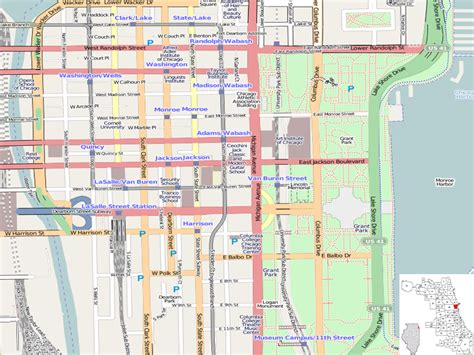 chicago loop map file chicago loop location map png