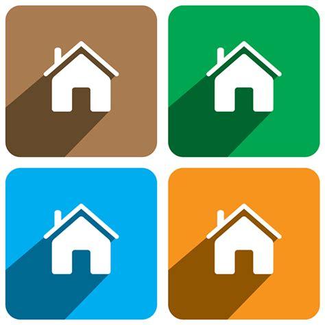 flat design icon house home icon flat design on behance