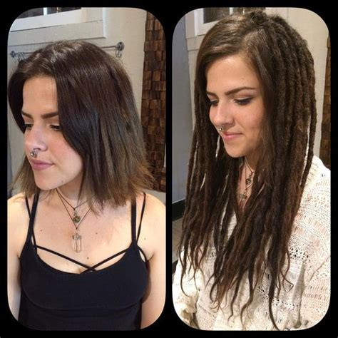 dread extensions short hair before after dreads dreadlock extensions and hair on pinterest