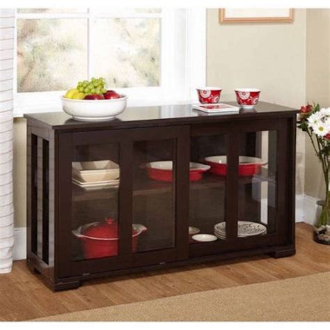 Buffet Table With Glass Doors Sideboards Astonishing Buffet Table With Glass Doors Modern Glass Buffet Cabinet Glass Buffets