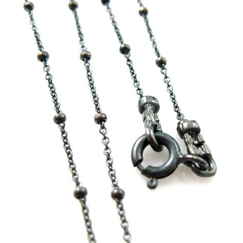 Sterling Silver Necklace Bracelet oxidized silver necklace oxidized sterling silver chain