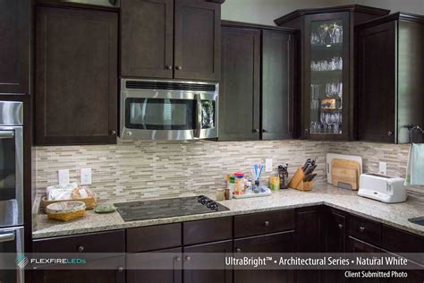 strip lighting for under kitchen cabinets residential led strip lighting projects from flexfire leds