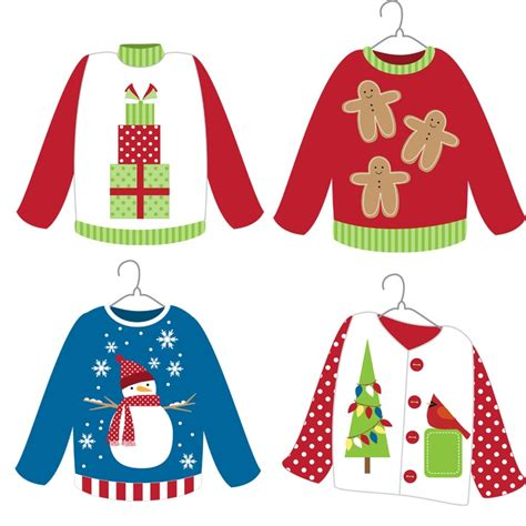 printable ugly christmas sweater ugly sweater day clipart clipartxtras