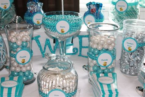 Blue Candies For Baby Shower by Blue White And Ducks Baby Shower Ideas Shower