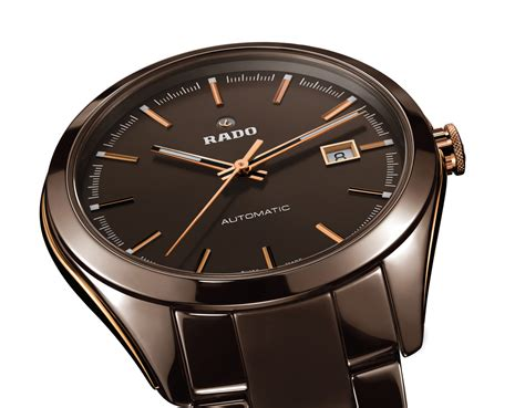 rado hyperchrome brown ceramic time and watches