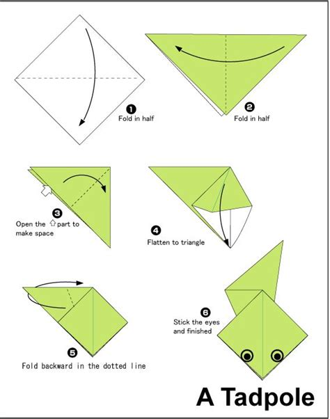 How To Make A Paper Origami Frog - how to do easy origami origami designs easy to make