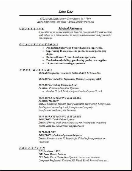 pharmacy resume occupational exles sles free edit with word
