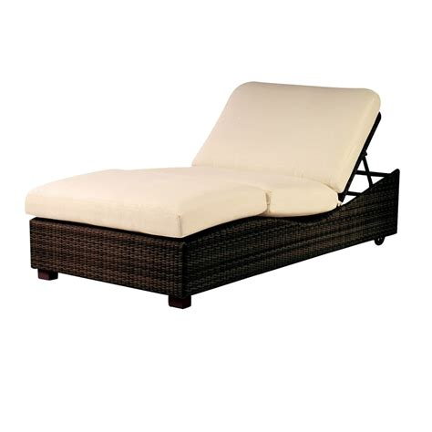 double outdoor chaise woodard montecito wicker double chaise lounge s511061