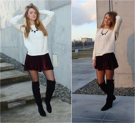 joanna cięszczyk skirt merg pl knee high boots