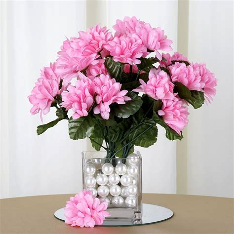 mum flower arrangement pink jpeg 168 silk chrysanthemums flowers wedding bouquet centerpieces sale ebay