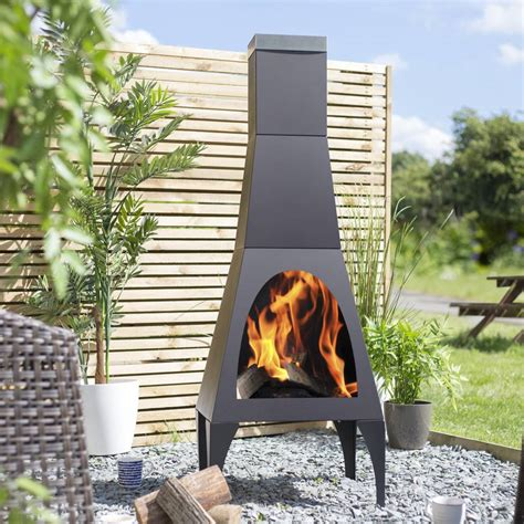 Contemporary Modern Chiminea By Garden Leisure
