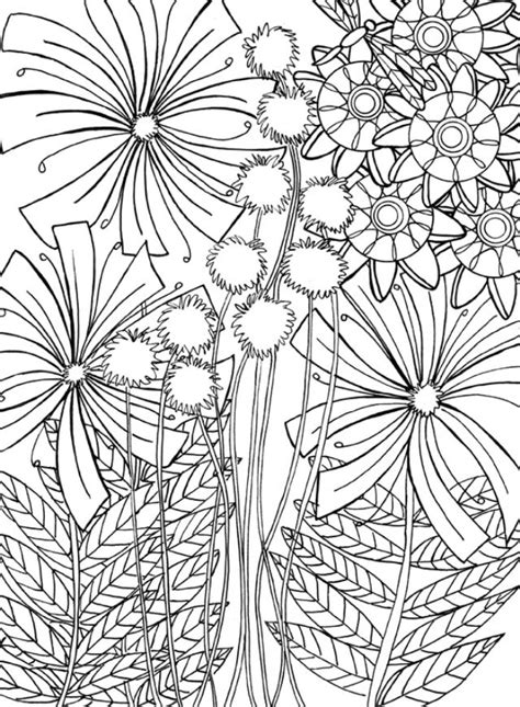 printable dandelion coloring page coloring pages