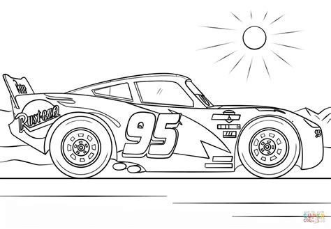 lightning mcqueen coloring pages download lightning mcqueen from cars 3 coloring page free
