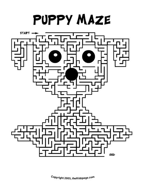 printable activities for kids puppy maze activity sheet free coloring pages for kids