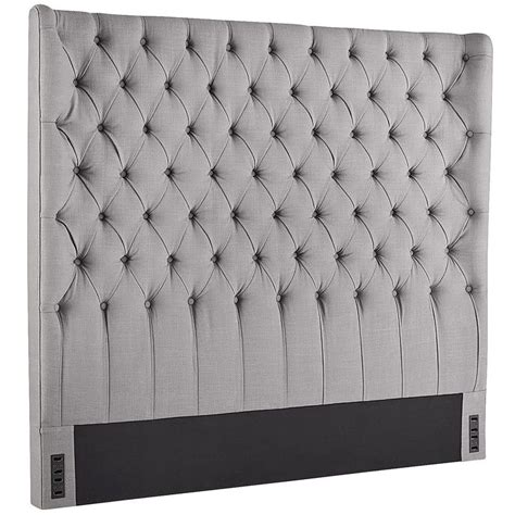 tufted studded headboard 1000 ideas about wingback headboard on