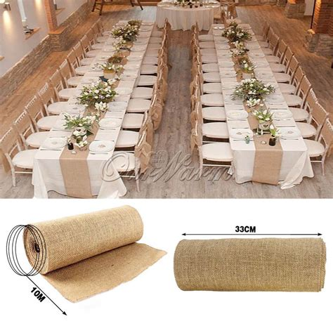 rustic home decor a piece of nature in your room home decorating ideas safety door design 10m burlap hessian wedding table runner natural jute