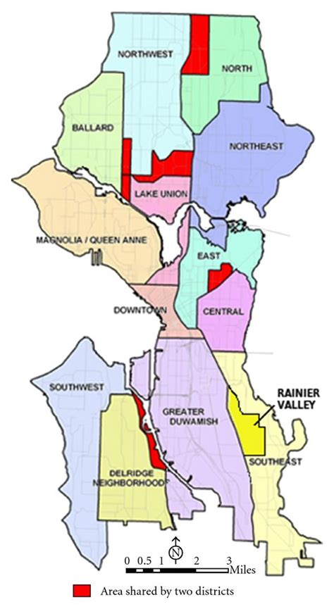 seattle map district use of the planning outreach liaison model in the