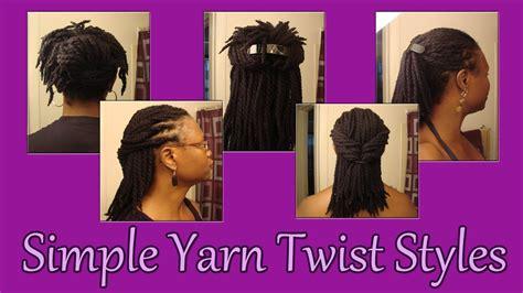 how to style scanty yarn twist 61 simple yarn twist styles youtube