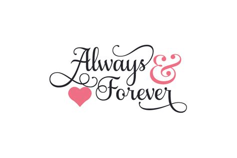 Always And Forever always forever my free svg