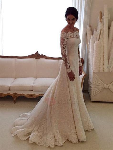 Hochzeitskleid Spitze by Vintage A Linie Brautkleid Mit Spitze 196 Rmel Tidebuy De