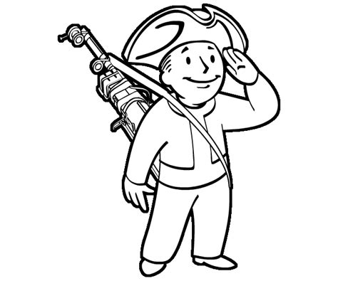 pip boy coloring page 75 fallout vault boy coloring pages vault boy coloring