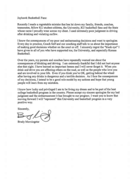 Petition Letter For Basketball Brady Morningstar Delivers Open Letter To Ku Fans Kusports