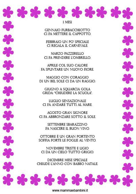 filastrocche sui fiori filastrocca sui mesi mamma e bambini