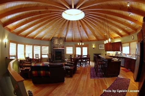 wood yurt interior small homes