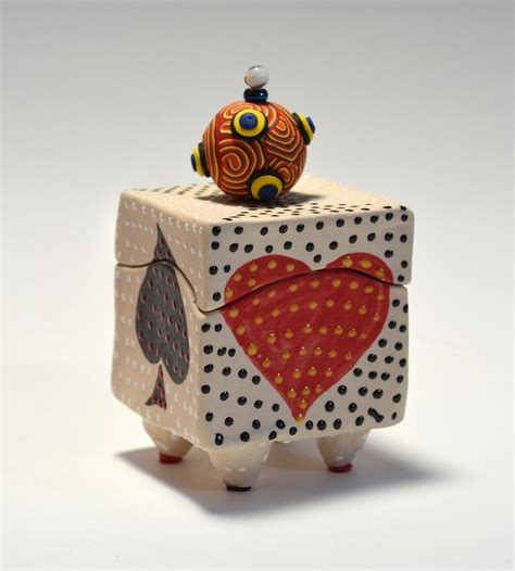 Home Decor Pottery playing card box by vaughan nelson ceramic box artful home