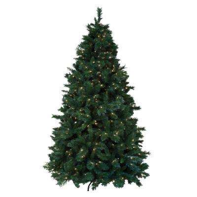 ashland pre lit windham spruce artificial trees trees the home depot