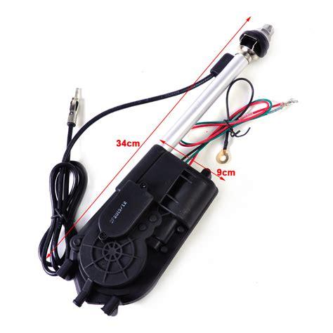 universal car aerial automatic power antenna am fm radio mast signal booster 12v ebay