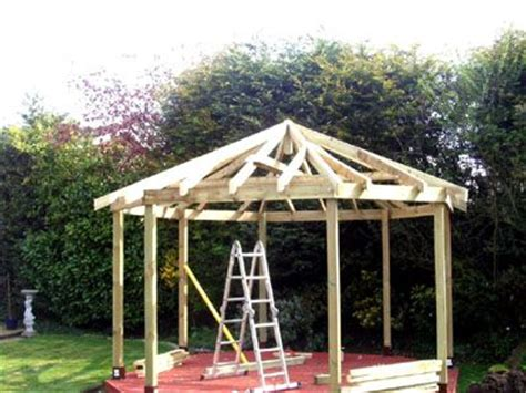 gazebo roofs an 8 sided gazebo over a decking with the