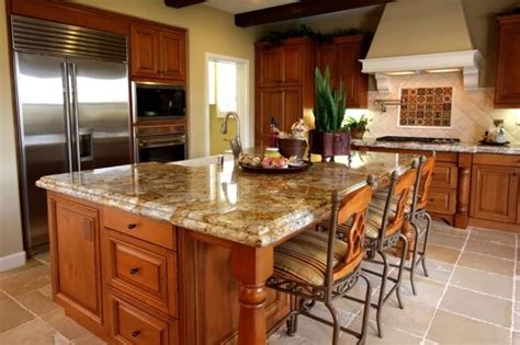 golden oak kitchen cabinets granite granite countertop
