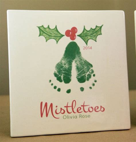 mistletoe craft for best 25 mistletoe footprint ideas on baby
