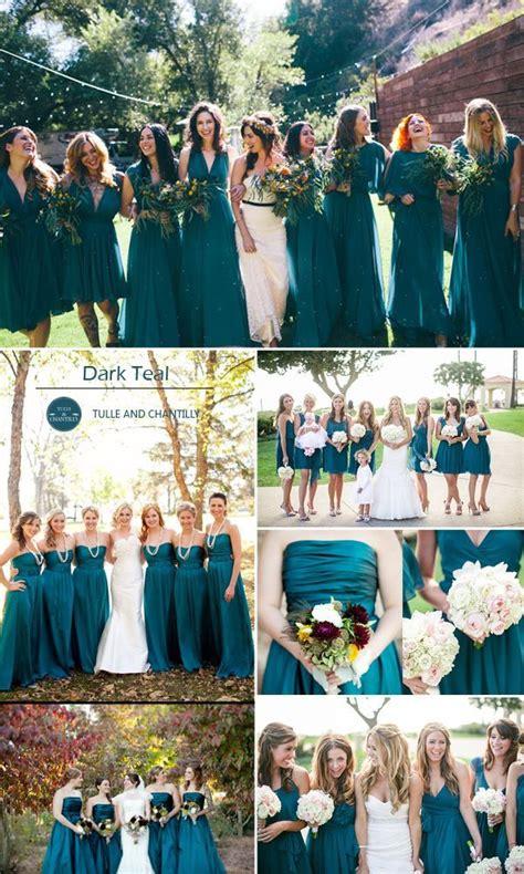 teal wedding colors best 25 teal bridesmaid dresses ideas on