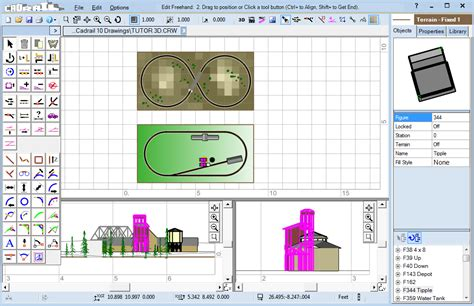 layout software page sandia software cadrail model railroad layout design