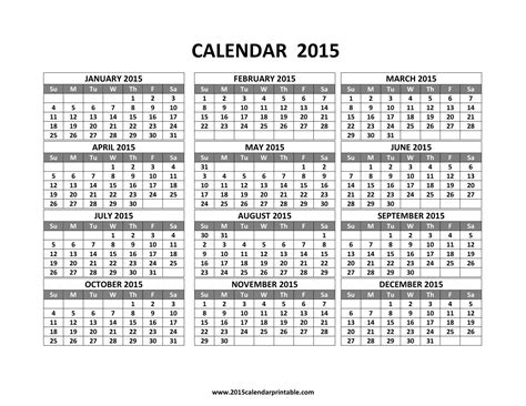 monthly calendar 2015 template 2017 printable calendar intended