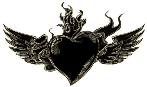 blackheart tattoo sad