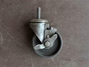 Threaded caster vintage industrial furniture