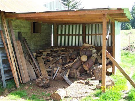 fire wood storage shed lean  fire wood storage