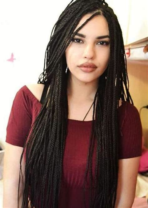 how to put thin box braids into a bun 35 awesome box braids hairstyles you simply must try