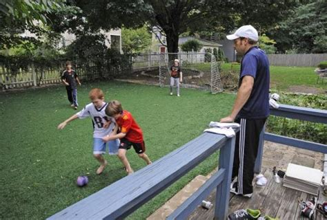 framingham comedian installs artificial turf soccer pitch
