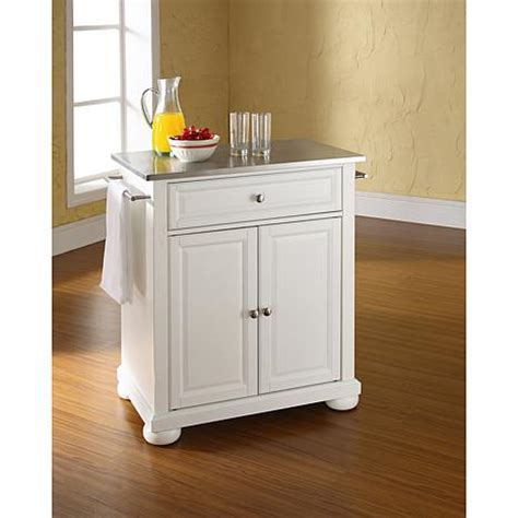 stainless steel movable kitchen island crosley alexandria stainless steel top portable kitchen island white 7743735 hsn