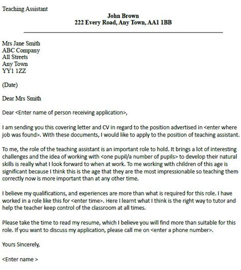 Cover Letter For Education Support Best 25 Teaching Assistant Ideas On